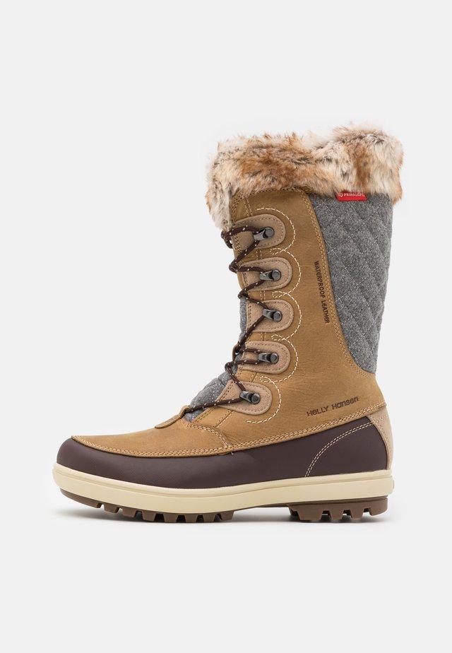 GARIBALDI - Winter boots - camel/coffe bean/bunge