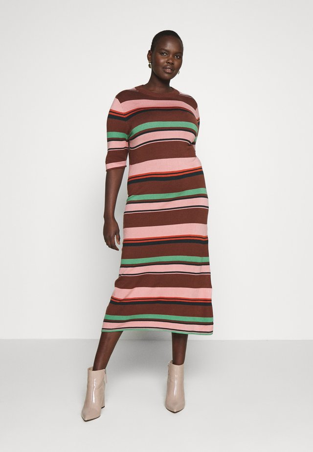 STRIPED MIDI DRESS - Korte jurk - multi
