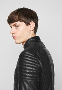 KARL LAGERFELD - BIKER JACKET - Leather jacket - black - 5