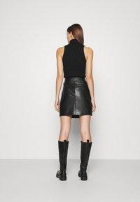 JUST FEMALE - MOON SKIRT - A-line skirt - black - 2