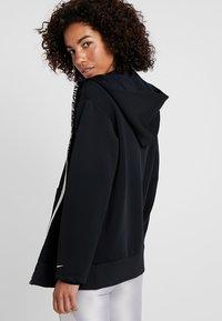 Nike Performance - HOODY - Zip-up hoodie - black/metallic silver - 2