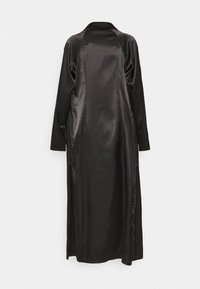 Missguided Tall - MAXI TRENCH JACKET - Classic coat - black - 1