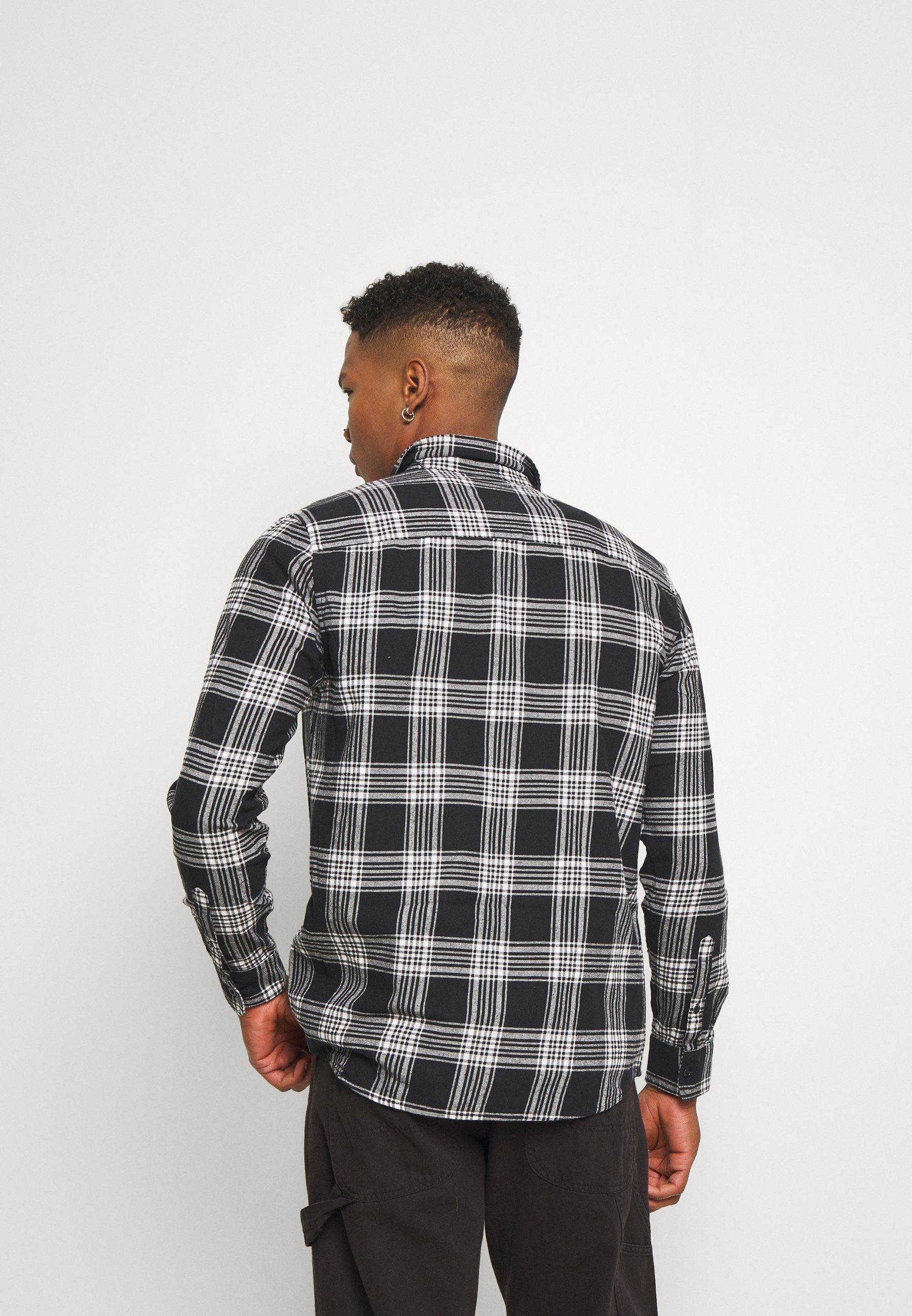 Topman Check - Skjorte Black/white