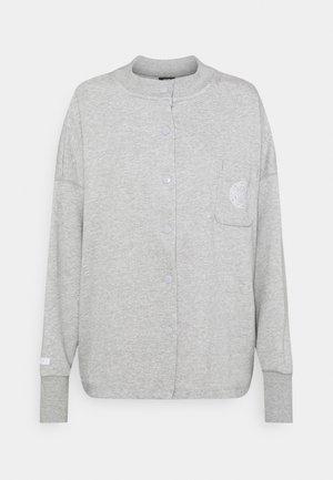 FEMME - Sweatjakke /Træningstrøjer - grey heather/matte silver/white