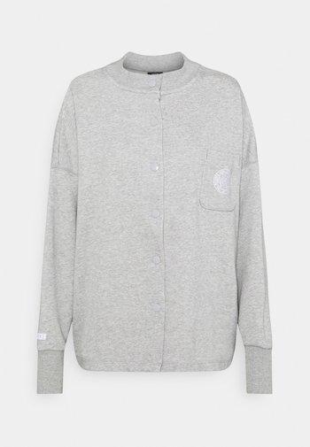 FEMME - veste en sweat zippée - grey heather/matte silver/white