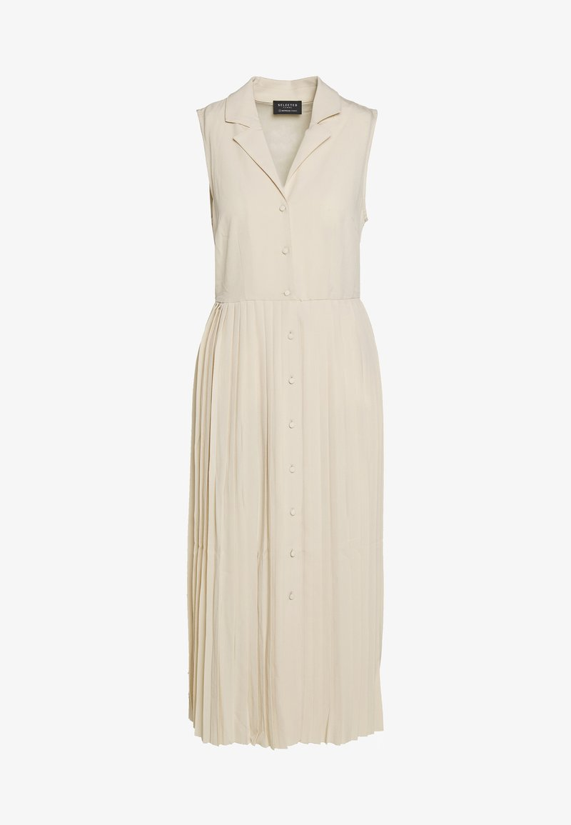 Selected Femme - MIDI DRESS - Košilové šaty - sandshell
