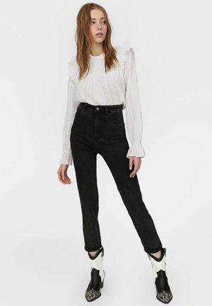 MOM-FIT - Slim fit jeans - black denim