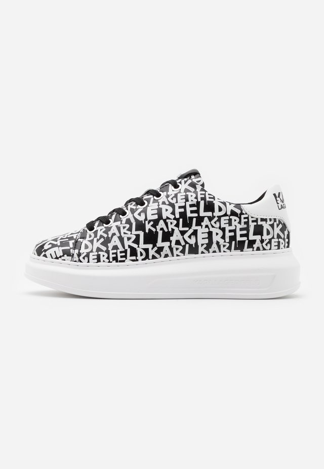 KAPRI GRAFFITI LACE - Trainers - black/white