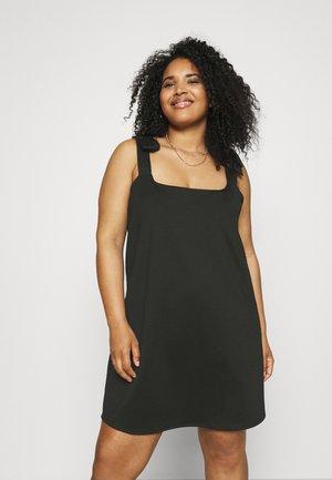 PONTI PINAFORE DRESS - Žerzejové šaty - black