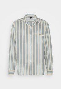 Club Monaco - WAFFLE STRIPE - Shirt - blue/vintage tan - 0