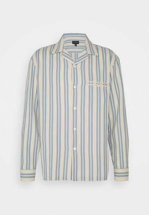 WAFFLE STRIPE - Skjorta - blue/vintage tan