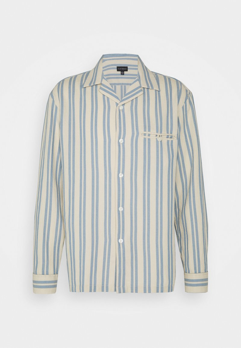 Club Monaco - WAFFLE STRIPE - Shirt - blue/vintage tan