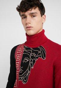 Versace Collection - Jumper - rosso/nero/beige - 3