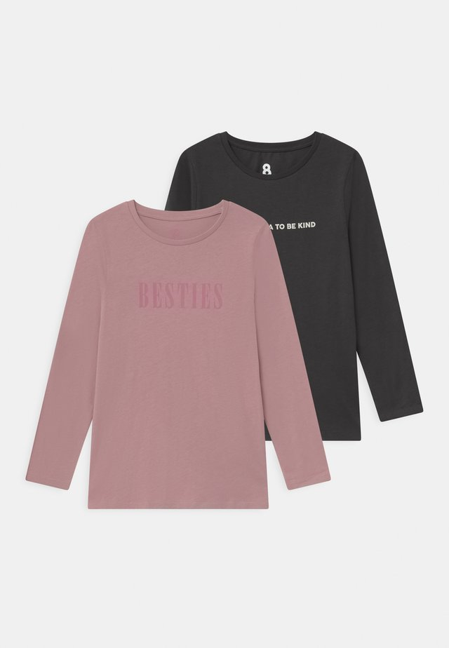 PENELOPE LONG SLEEVE 2 PACK - T-shirt à manches longues - dusty berry/phantom