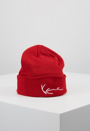 SIGNATURE BEANIE - Mütze - red
