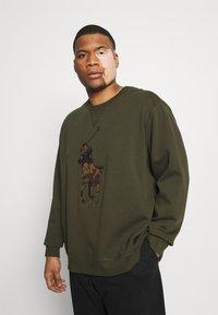 Polo Ralph Lauren Big & Tall - DOUBLE TECH - Sweatshirt - company olive - 0