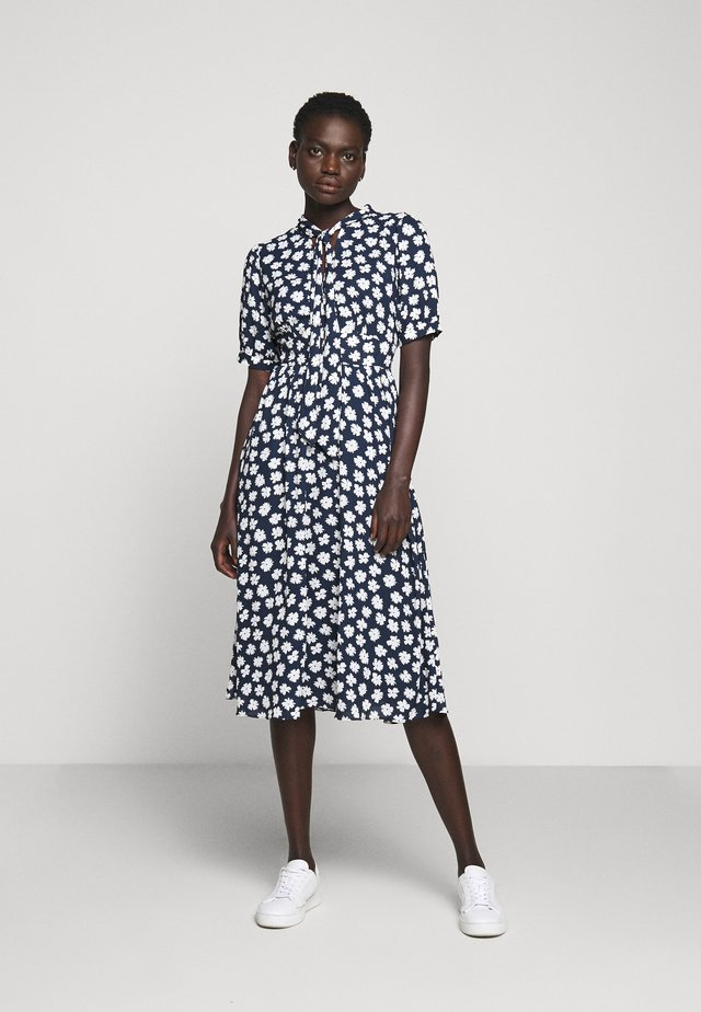 CONWAY DRESS - Shirt dress - navy/ivory