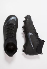 Nike Performance - MERCURIAL 6 ACADEMY MG - Moulded stud football boots - black/anthracite/black/light crimson - 0
