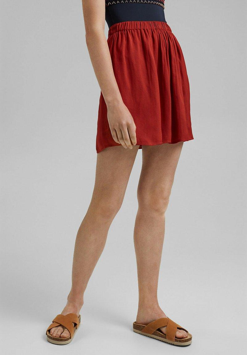 edc by Esprit - A-line skirt - terracotta