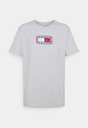 RELAXED TIMELESS FLAG TEE - T-shirt con stampa - silver grey heather