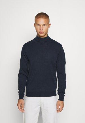 FINE GAUGE ROLL NECK - Stickad tröja - navy