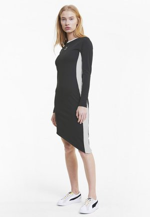 Shirt dress - cotton black