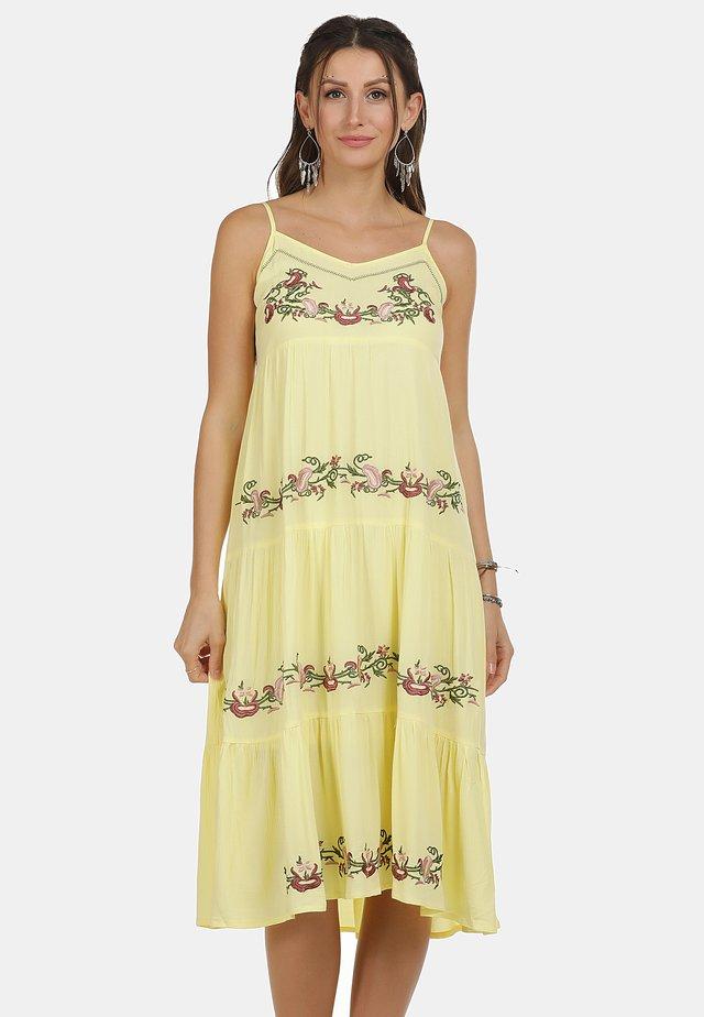 KLEID - Korte jurk - hellgelb