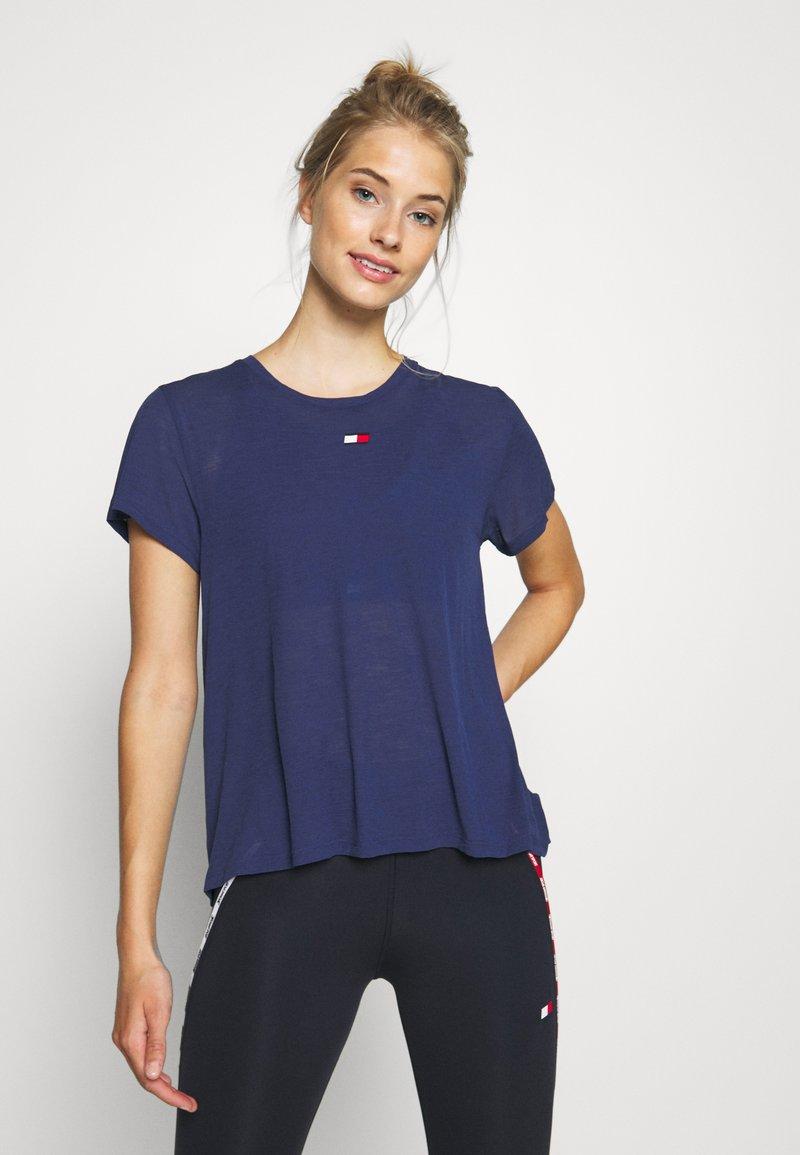 Tommy Hilfiger - PERFORMANCE - T-Shirt print - blue