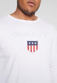 GANT - PLUS SHIELD - Long sleeved top - white - 5