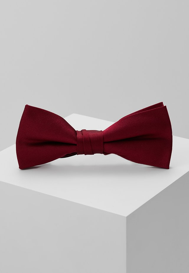 SOLID BOW TIE - Butterfly - red
