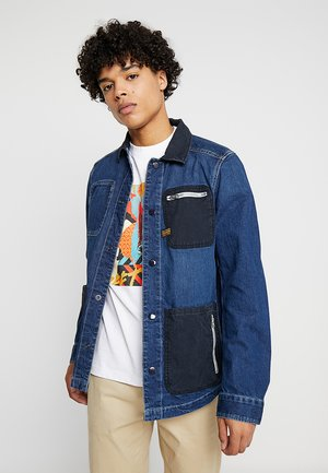 BLAKE ZIP OVERSHIRT - Denim jacket - kara denim dark aged