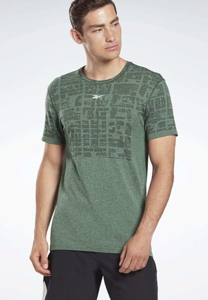 LES MILLS® MYOKNIT SEAMLESS T-SHIRT - T-shirt imprimé - green