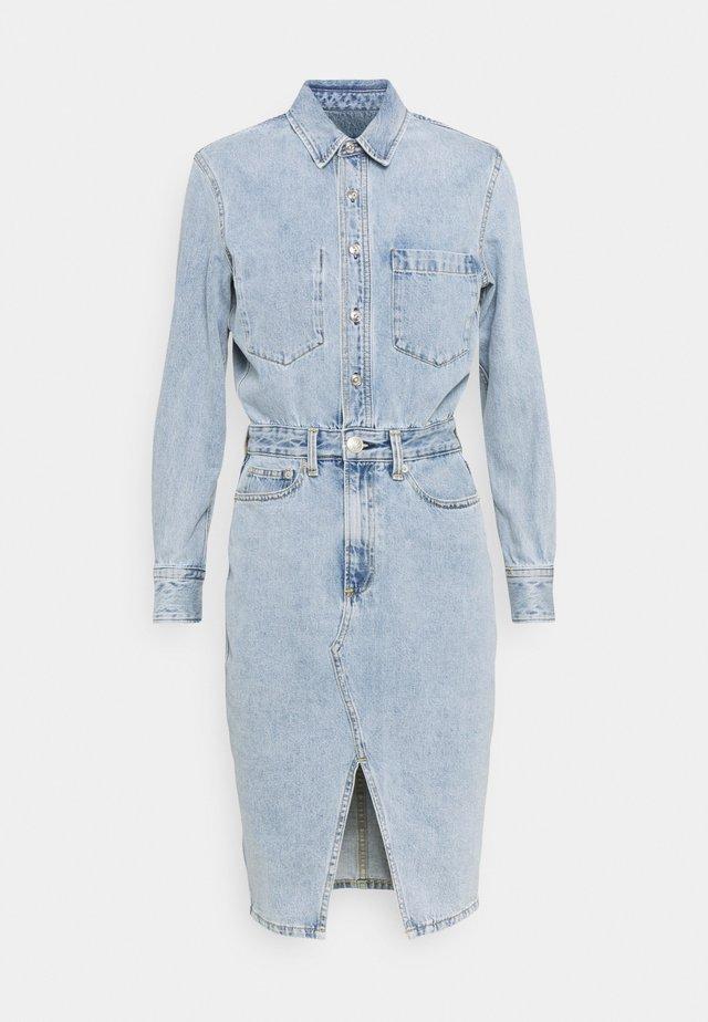 ALL IN ONE DRESS - Denim dress - light blue