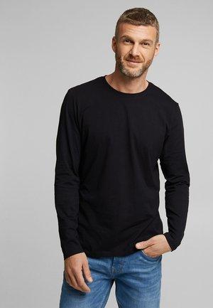 C-NECK LONGSLEEVE - Long sleeved top - black