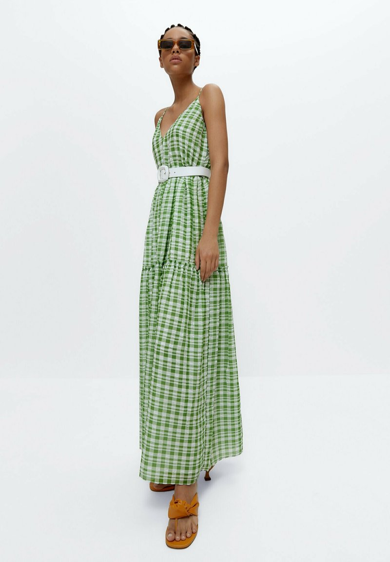 Uterqüe - Maxi dress - green
