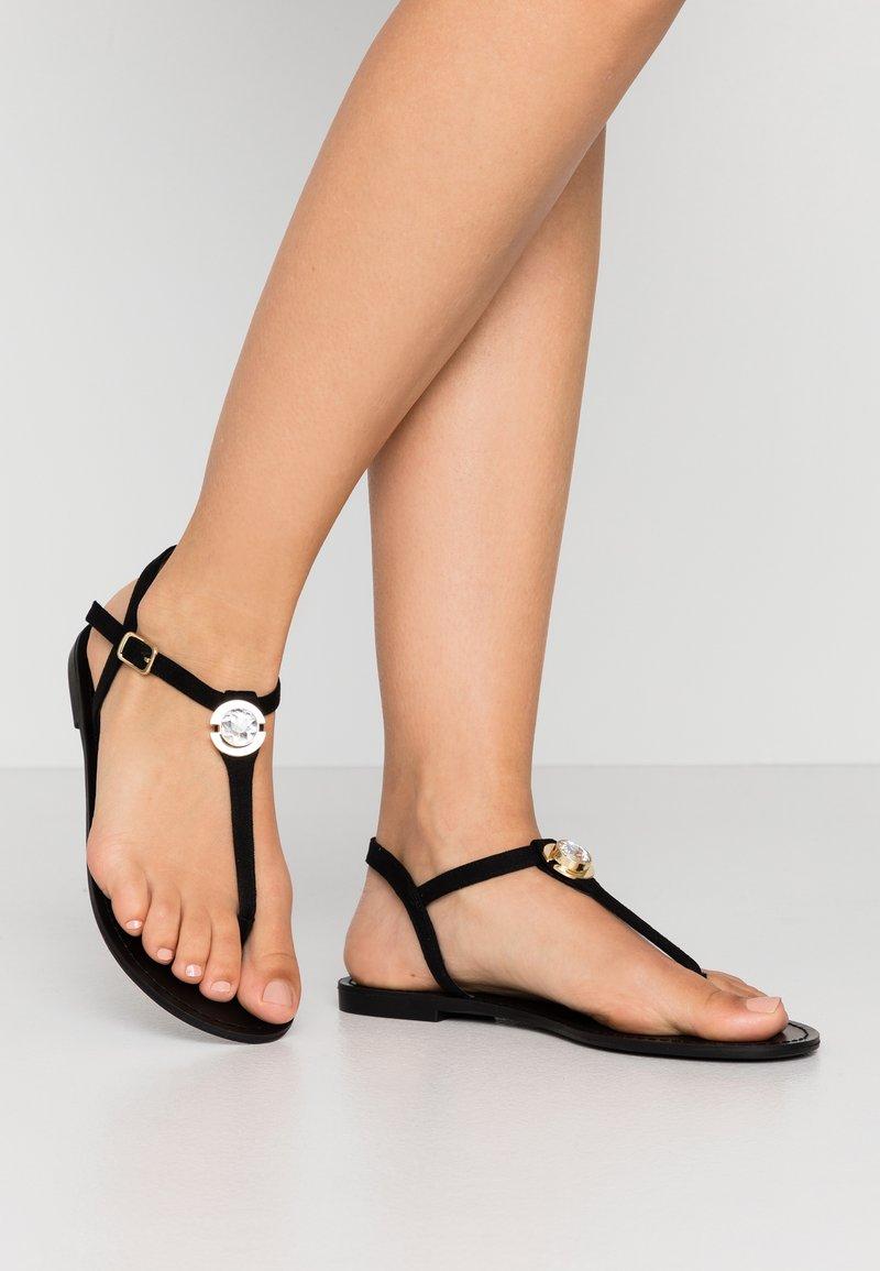 PARFOIS - T-bar sandals - black