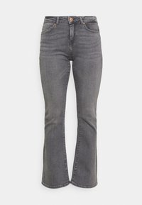 ONLY Petite - ONLHUSH LIFE MID  - Flared Jeans - grey denim - 3