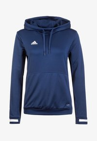 adidas Performance - TEAM 19  - Kapuzenpullover - navy blue / white - 0