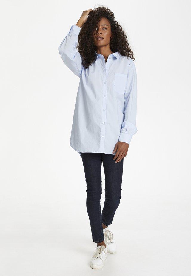 Button-down blouse - xenon blue