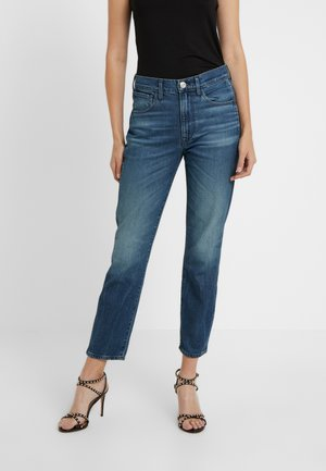 HIGH RISE AUTHENTIC CROP - Jeansy Straight Leg - blue denim