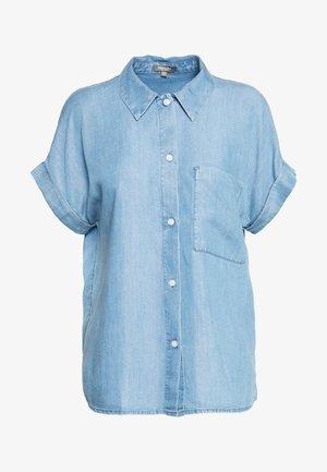 BLOUSE LOOSE FIT - Button-down blouse - blue denim