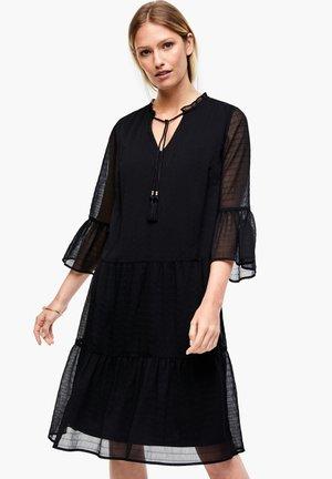 MIT VOLANTS - Day dress - black