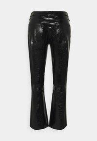 J Brand - FRANKY HIGH RISE CROP  - Bootcut jeans - patent black - 8