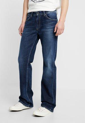ALFIE - Bootcut jeans - blue denim