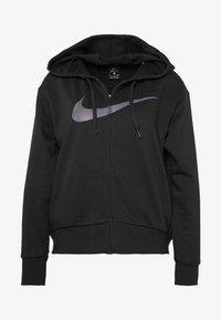 Nike Performance - W NK DRY GET FIT FC FZ H ES GX - Bluza rozpinana - black/thunder grey - 4