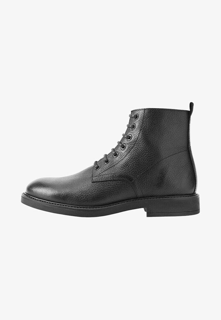 Mango - Lace-up ankle boots - black