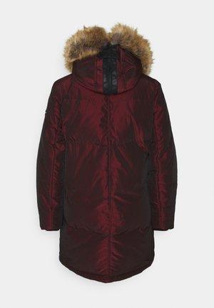 Down coat - red/brown