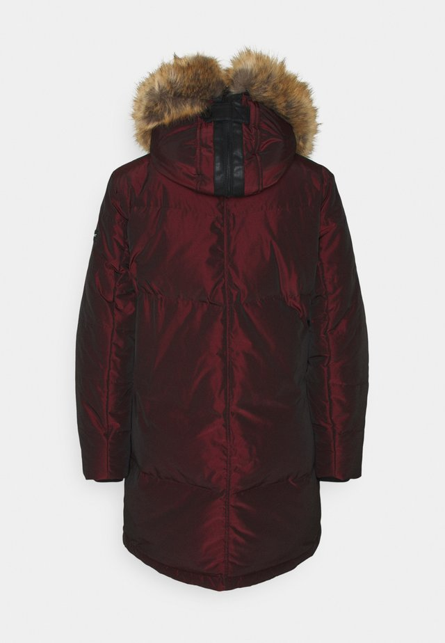 Down coat - red/brown
