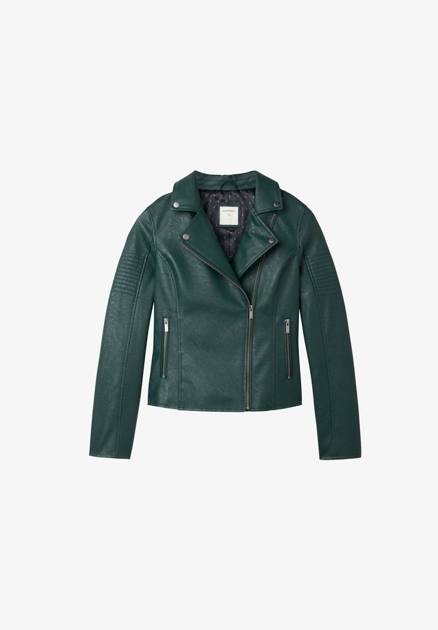 Leather jacket - dark green