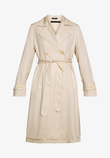 TRENCH COAT DOUBLE BREASTED BELTED WELT POCKETS - Trenchcoat - raw sand